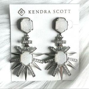 Kendra Scott Allie Earrings Drusy/Silver